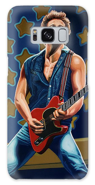Rock And Roll Galaxy S8 Case - Bruce Springsteen The Boss Painting by Paul Meijering