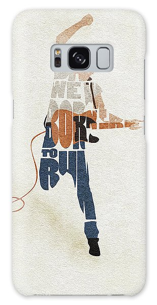 Bruce Springsteen Galaxy S8 Case - Bruce Springsteen Typography Art by Inspirowl Design