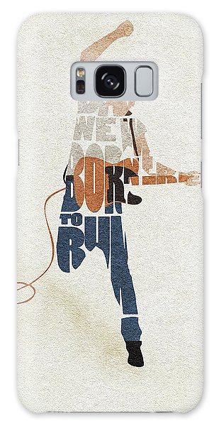 Bruce Springsteen Typography Art Galaxy Case