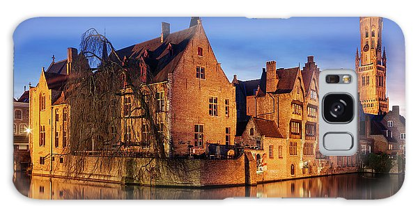 Galaxy Case featuring the photograph Bruges Architecture At Blue Hour by Barry O Carroll