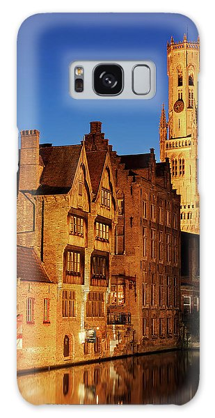 Galaxy Case featuring the photograph Bruges Belfry At Night by Barry O Carroll