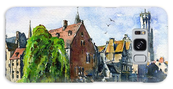 Bruges Belgium Galaxy Case by John D Benson