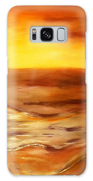 Brushed 5 - Vertical Sunset Galaxy Case