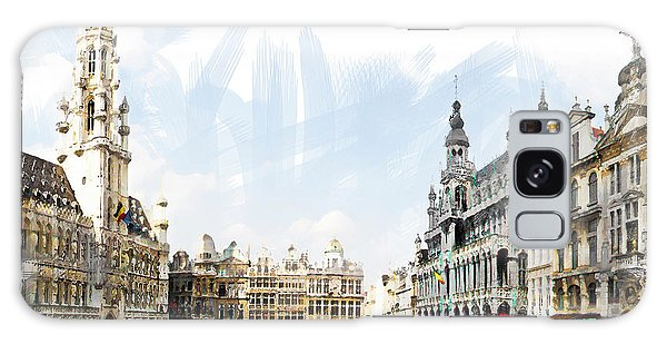 Brussels Grote Markt  Galaxy Case by Tom Cameron