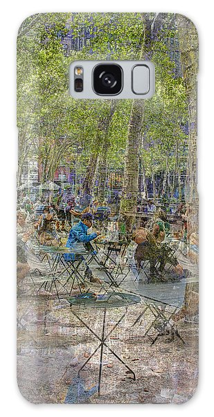 Bryant Park Collage 2 Galaxy Case by Dave Beckerman