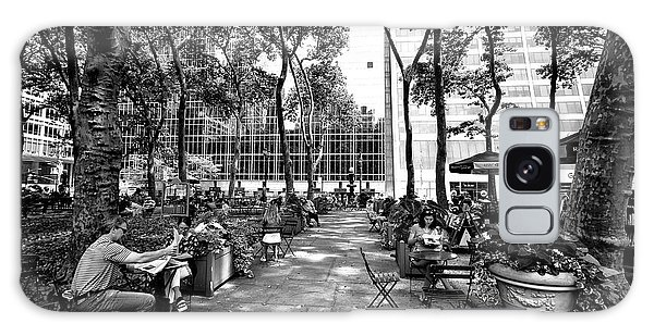 Bryant Park Reading Galaxy Case by John Rizzuto