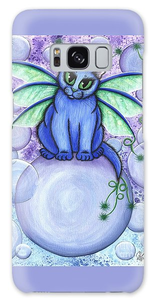 Bubble Fairy Cat Galaxy Case by Carrie Hawks