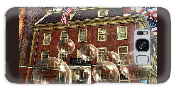 Bubbles Of New York History - Photo Collage Galaxy Case