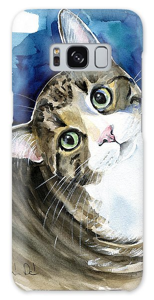Bubbles - Tabby Cat Painting Galaxy Case