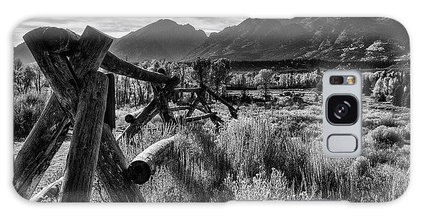 Grass Snake Galaxy Case - Buck And Rail To The Tetons by Mark Kiver