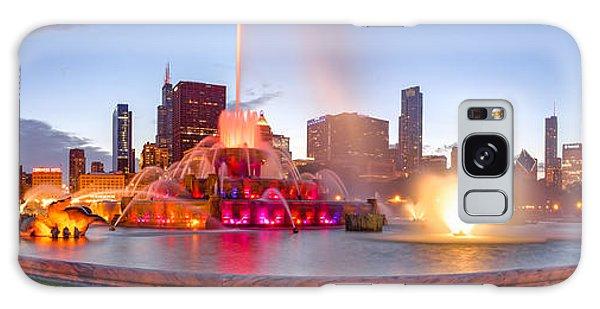 Art Institute Galaxy Case - Buckingham Fountain Panorama At Twilight - Grant Park Chicago Illinois by Silvio Ligutti