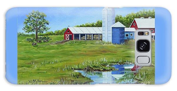 Bucks County Farm Galaxy Case by Val Miller