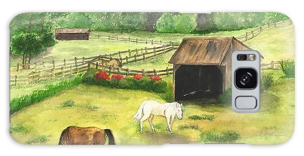 Bucks County Horse Farm Galaxy Case by Lucia Grilletto