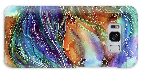 Bucky The Mustang In Watercolor Galaxy Case
