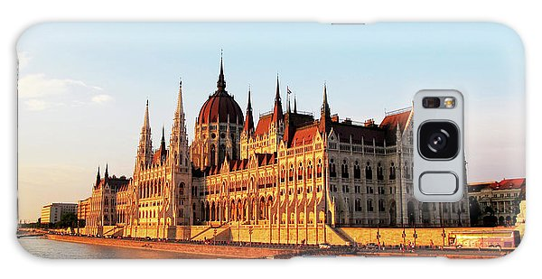 Budapest At Sunset Galaxy Case