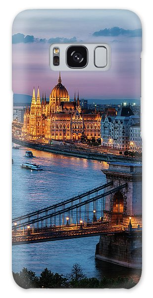 Budapest City At Dusk Galaxy Case