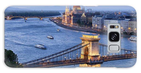 Budapest Cityscape At Dusk Galaxy Case