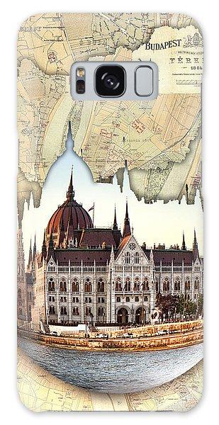 Budapest Globe Map Galaxy Case