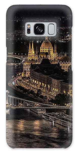 Budapest View At Night Galaxy Case by Jaroslaw Blaminsky