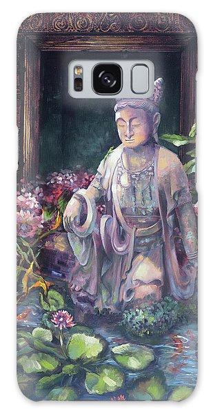 Budda Statue And Pond Galaxy Case
