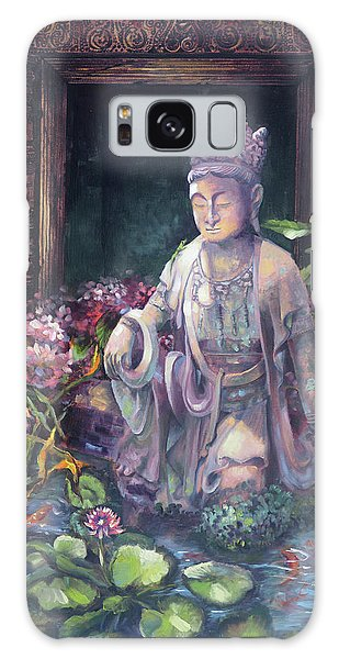 Budda Statue And Pond Galaxy Case