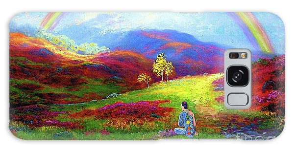 Buddha Chakra Rainbow Meditation Galaxy Case