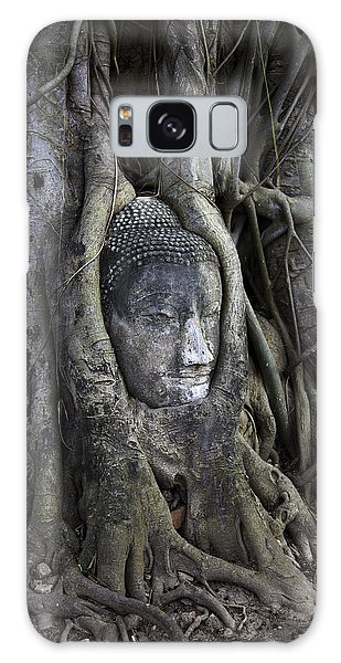 Buddha Head In Tree Galaxy Case by Adrian Evans