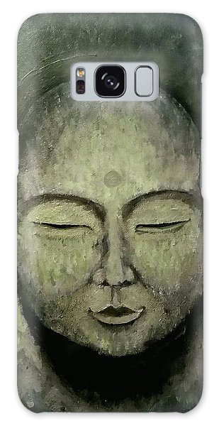 Buddha In Green Galaxy Case