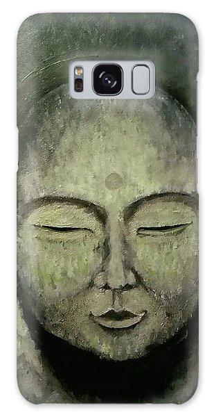 Buddha In Green Galaxy Case