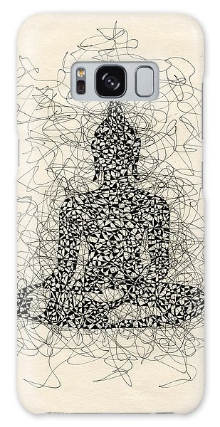 Buddha Pen And Ink Drawing Galaxy Case