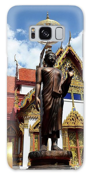 Buddha Statue With Sunshade Outside Temple Hat Yai Thailand Galaxy Case