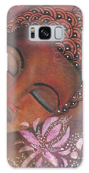 Buddha With Pink Lotus Galaxy Case