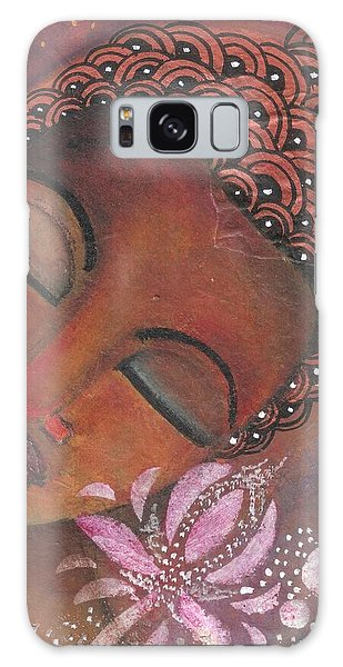 Buddha With Pink Lotus Galaxy Case