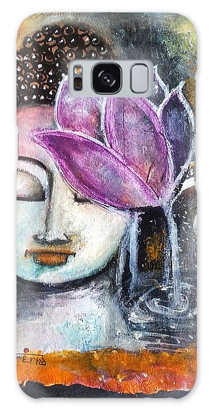 Buddha With Torn Edge Paper Look Galaxy Case by Prerna Poojara