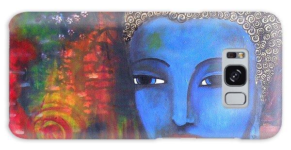 Buddha Within A Circular Background Galaxy Case