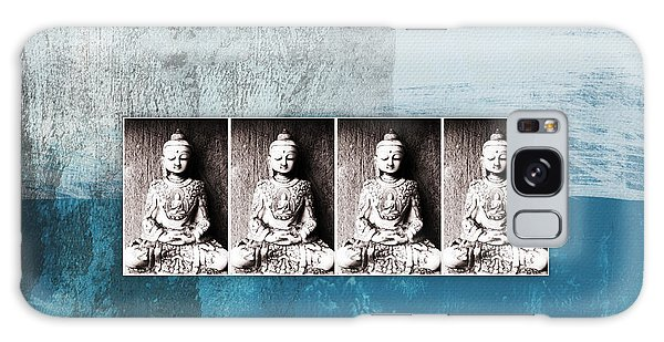 Buddha Galaxy Case - Buddhas In Blue- Contemporary Art By Linda Woods. by Linda Woods
