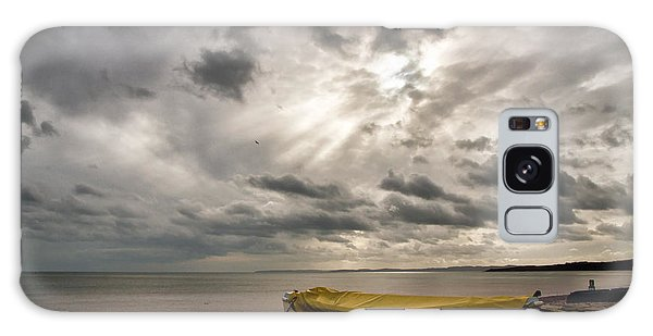 Budleigh Salterton Beach Galaxy Case