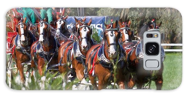 Budweiser Clydesdales Perfection Galaxy Case