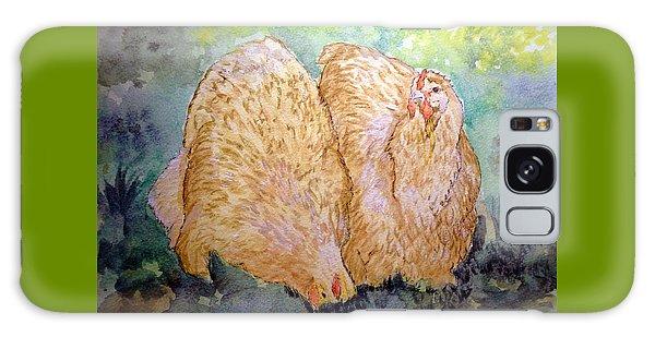 Buff Orpington Hens In The Garden Galaxy Case
