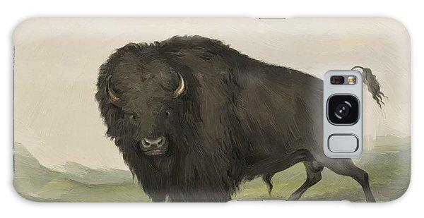 Buffalo Bull Grazing 1845 Galaxy Case