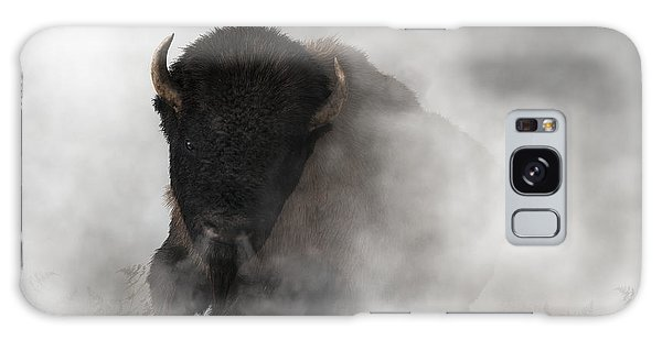 Buffalo Emerging From The Fog Galaxy Case by Daniel Eskridge
