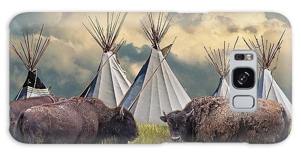 Buffalo Herd On The Reservation Galaxy Case