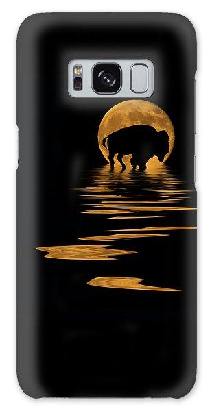 Buffalo In The Moonlight Galaxy Case