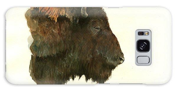 Buffalo Galaxy Case - Buffalo Portrait Head by Juan  Bosco