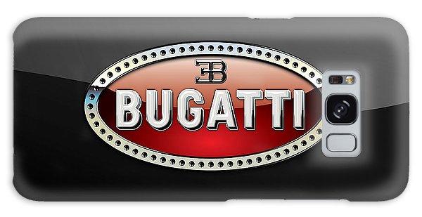 Automotive Galaxy Case - Bugatti - 3 D Badge On Black by Serge Averbukh