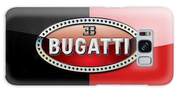 Automotive Galaxy Case - Bugatti 3 D Badge On Red And Black  by Serge Averbukh