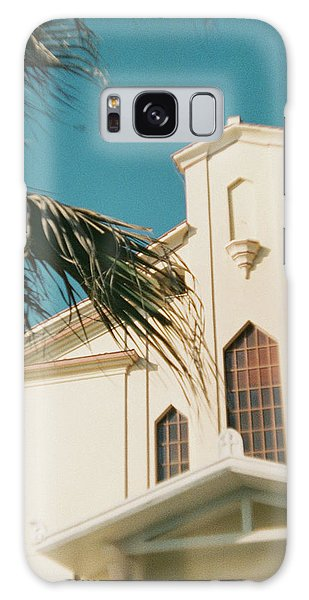 Building Behind Palm Tree In Ostia, Rome Galaxy Case