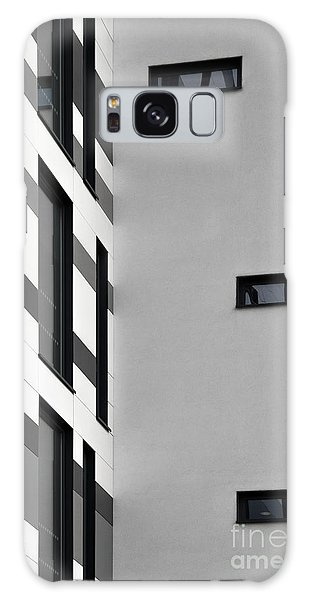 Galaxy Case featuring the photograph Building Block - Black And White by Wendy Wilton