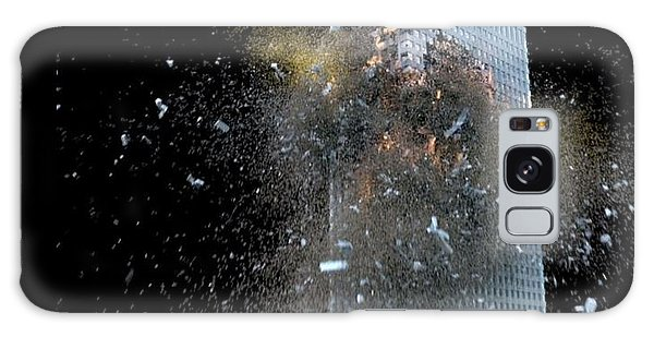 Galaxy Case featuring the digital art Building_explosion by Marcia Kelly