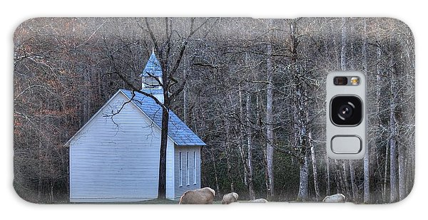 Bull Elk Attending Palmer Chapel  In The Great Smoky Mountains National Park Galaxy Case